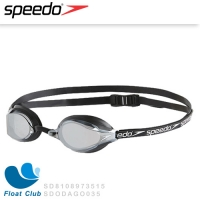 【Speedo】成人競技鏡面泳鏡 SPEEDSOCKET SD8108973515(黑)