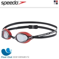 【Speedo】成人競技泳鏡 SPEEDSOCKET SD810896B572(紅)
