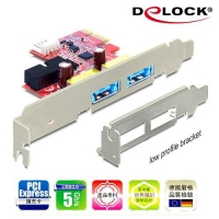 Delock PCI express擴充卡4 in 1多功能連接埠-89288