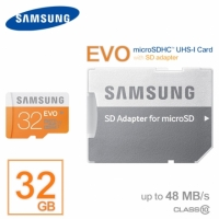 SAMSUNG三星 EVO/黃卡/Micro SD/MicroSDHC/UHS-1/T-Flash32G/TF 32GB/32G Class10/48MB 記憶卡/不含SD轉卡