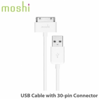moshi USB Cable with 30pin connector Apple USB 傳輸線
