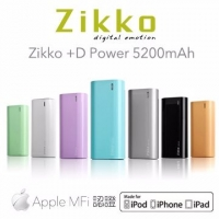 【Zikko】+D Power 5200mAh APPLE認證行動電源-NOVA成功