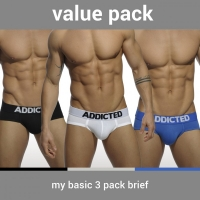 【2016SS】【現貨】ADDICTED AD420P 基本三角內褲超值包 AD420P MY BASIC 3 PACK BRIEF