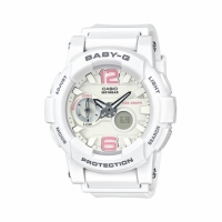 【casio】CASIO BABY-G BGA-180BE-7B 衝浪滑板Beach Colors雙顯流行腕錶/藍色面44mm(BGA-180BE-7B)