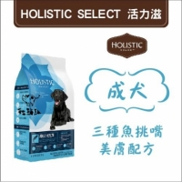 【Holistic Select活力滋】三種魚挑嘴美膚配方,成犬,15磅