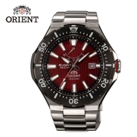 【ORIENT 東方錶】ORIENT 東方錶 M-FORCE FOR AIR DIVING系列 潛水機械錶 鋼帶款 SEL07002H 紅色 - 49.1mm(機械錶)