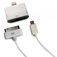 【皮套達人】Apple 30 pin 及 Micro USB to 8 pin iPad mini/ iPhone 5 轉換接頭