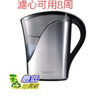[106美國直購] 新造型圓形濾心Brita 8 Cup Stainless Steel BPA Free Water Pitcher with 1 Filter