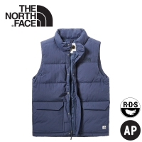 【The North Face 男 600FP羽絨背心《海軍藍》】3VUA/保暖背心/羽絨衣