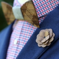 【THE TWO GUYS BOW TIE】手工木製胸花